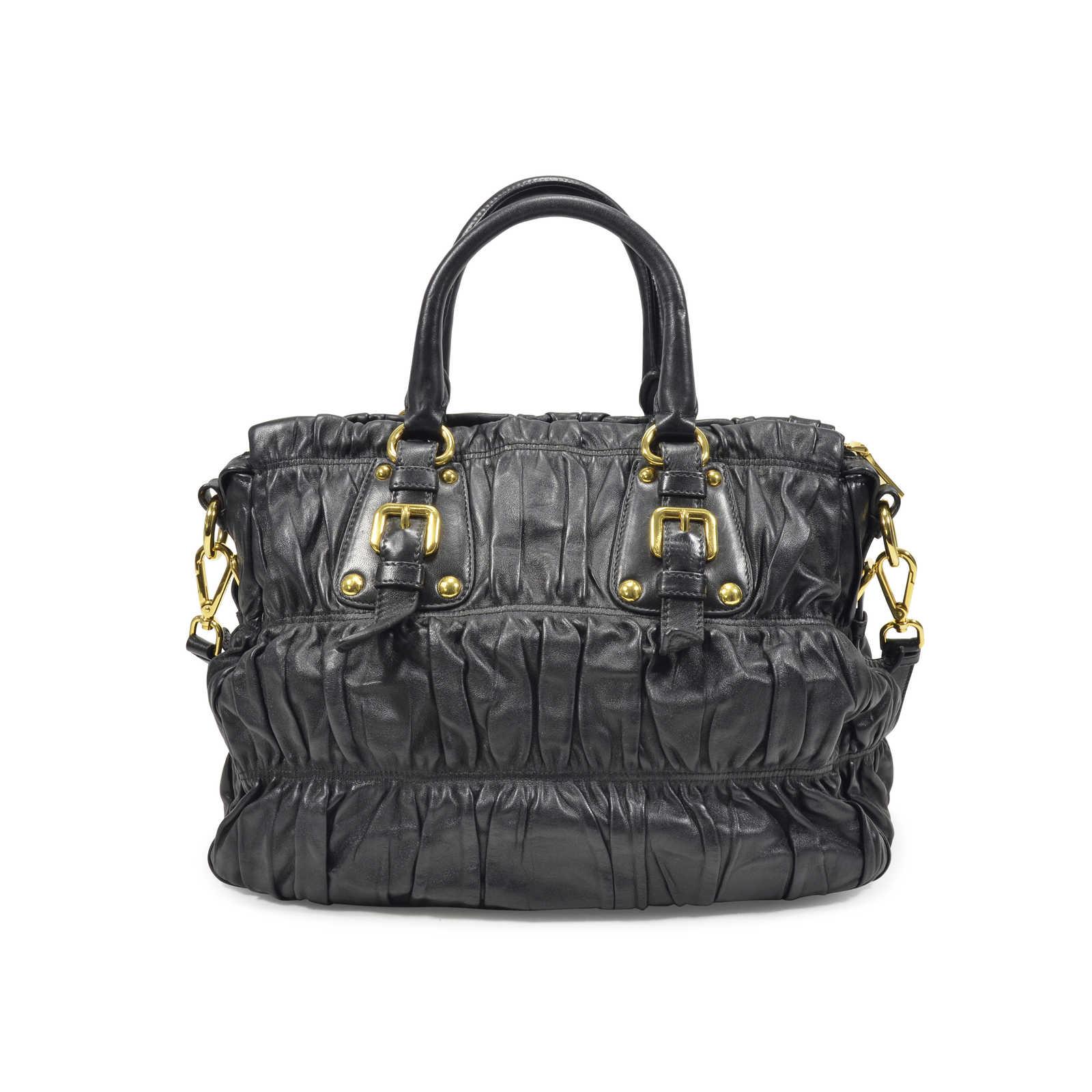 Prada Nappa Gaufre Bag Black - Thumbnail 1