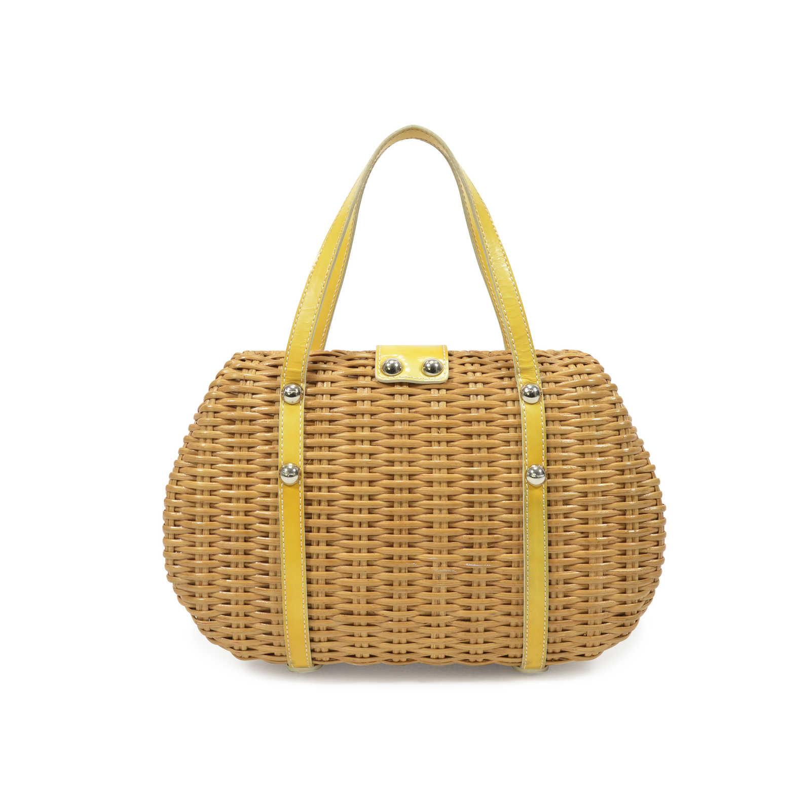 611703129a1d ... Authentic Second Hand Salvatore Ferragamo Wicker Handbag  (PSS-359-00001) - Thumbnail ...
