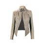 Authentic Second Hand Cut 25 Contrast Leather Jacket (PSS-088-00049) - Thumbnail 0