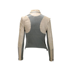 Cut 25 contrast leather jacket 2?1496916534