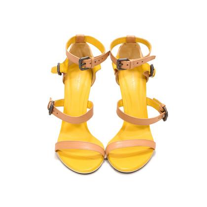 Authentic Second Hand Bottega Veneta Two-Tone Leather Sandals (PSS-287-00006)