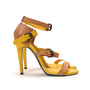 Authentic Second Hand Bottega Veneta Two-Tone Leather Sandals (PSS-287-00006) - Thumbnail 3
