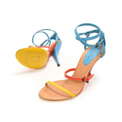 Bottega veneta turquoise fire sunset calf sandals 2?1497332168