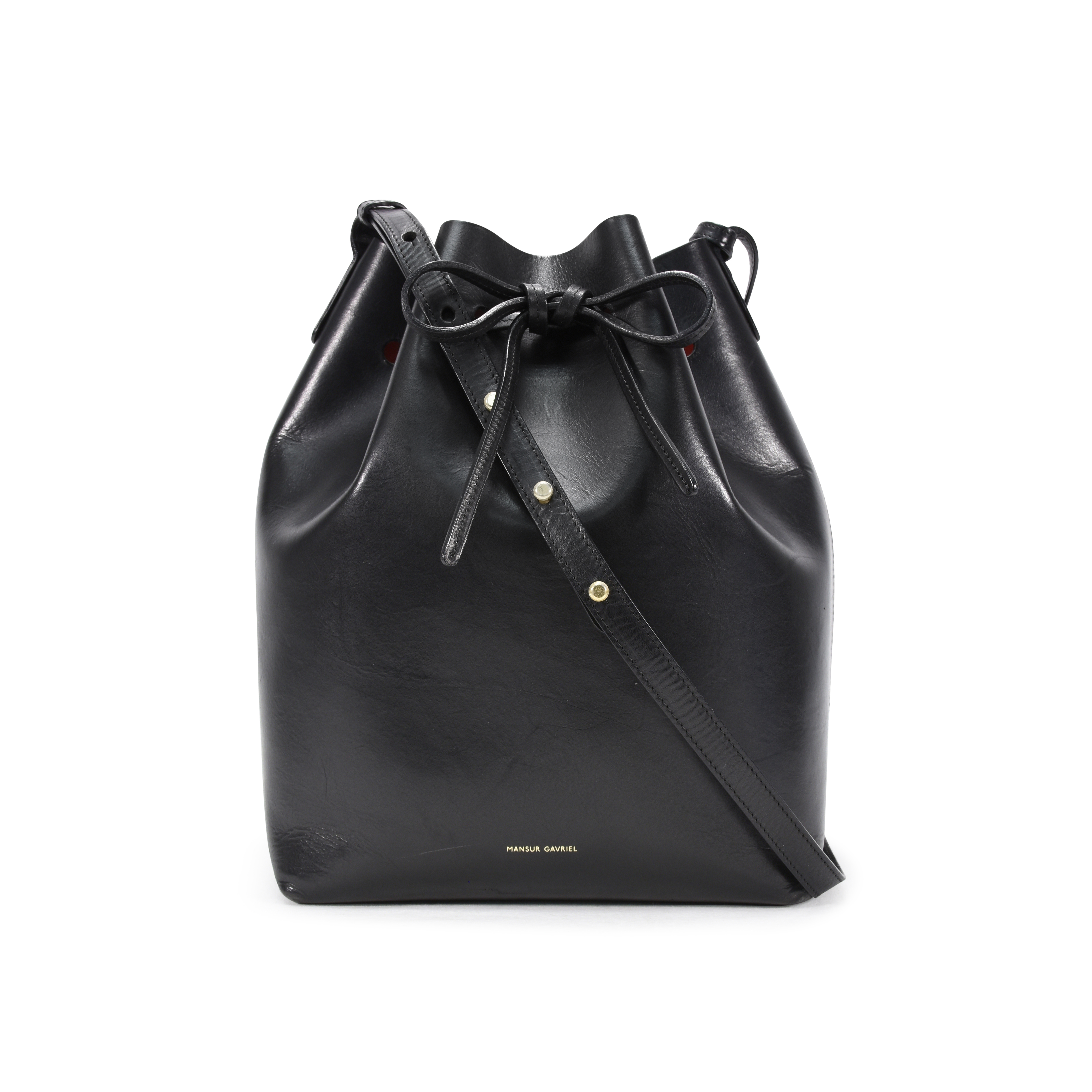 Authentic Pre Owned Mansur Gavriel Flamma Bucket Bag Pss 356 00003 The Fifth Collection