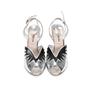 Miu Miu Metallic Leather Sandals - Thumbnail 0