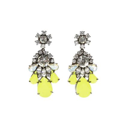 Shourouk Neon Crystal Ds Earrings