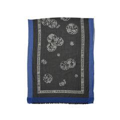 Chanel paris shanghai silk cashmere stole 2?1498041140