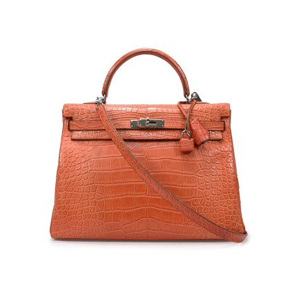 Hermes Sanguine Alligator Kelly 35