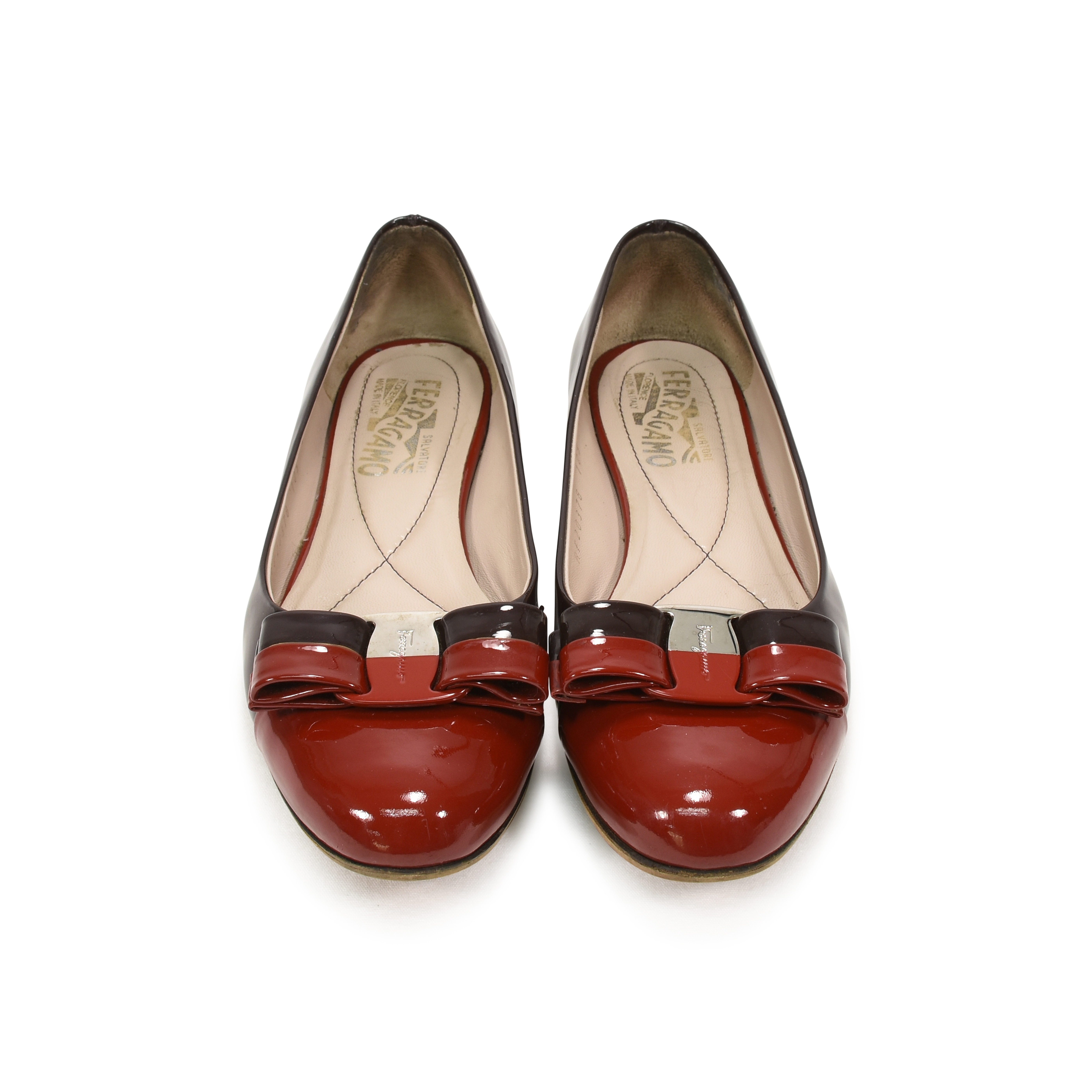 2bb9d4a85f55d Authentic Second Hand Salvatore Ferragamo Varina Two-Toned Flats  (PSS-344-00001) - THE FIFTH COLLECTION