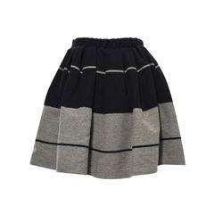 Acne romantic striped wool skirt 2?1498557558