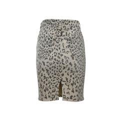 Current elliott leapard print denim skirt 2?1498629457
