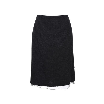 Authentic Second Hand Chanel Wool Blend Skirt (PSS-336-00011)