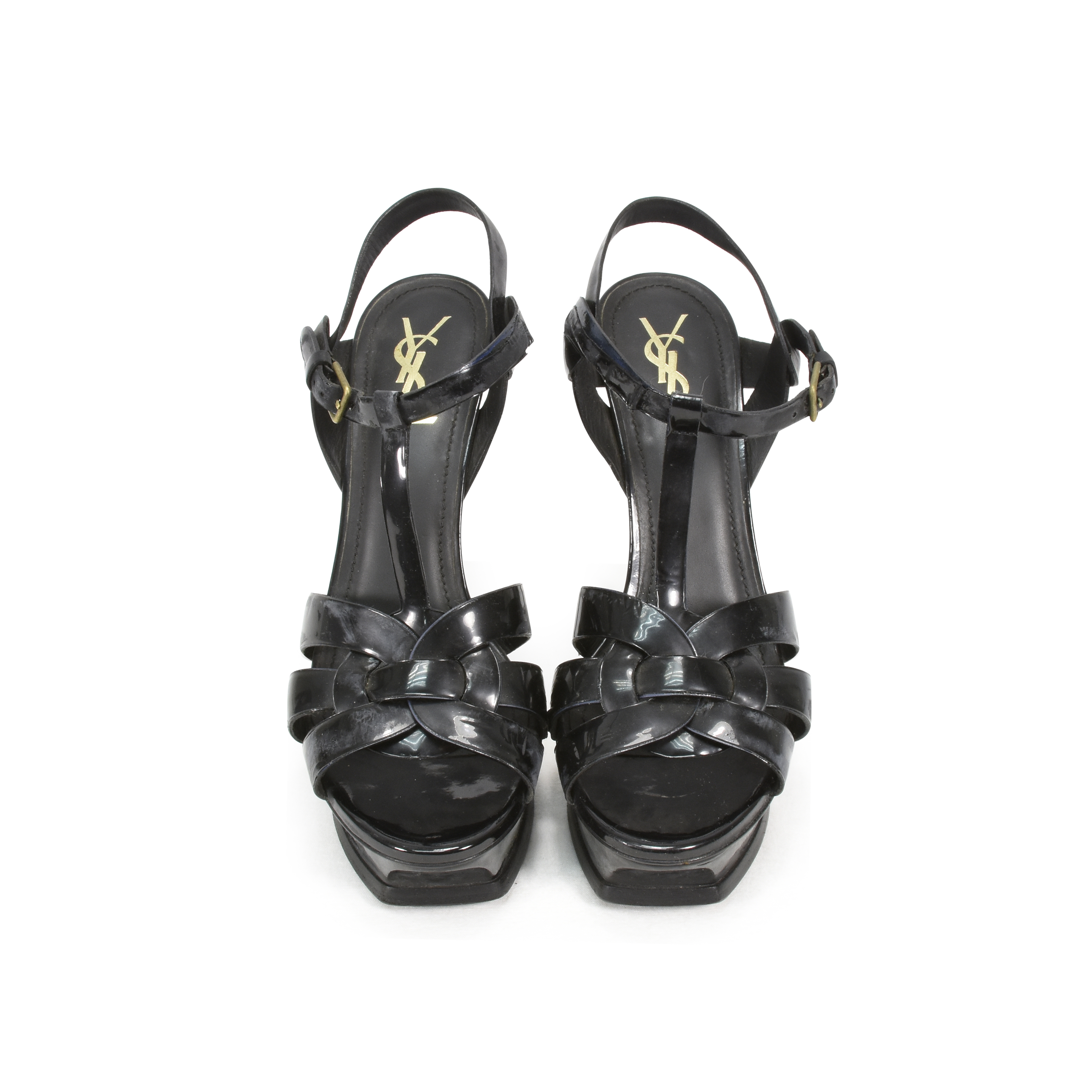 9d65be48dc3 Authentic Pre Owned Yves Saint Laurent Patent Tribute Sandals (PSS-354-00018)