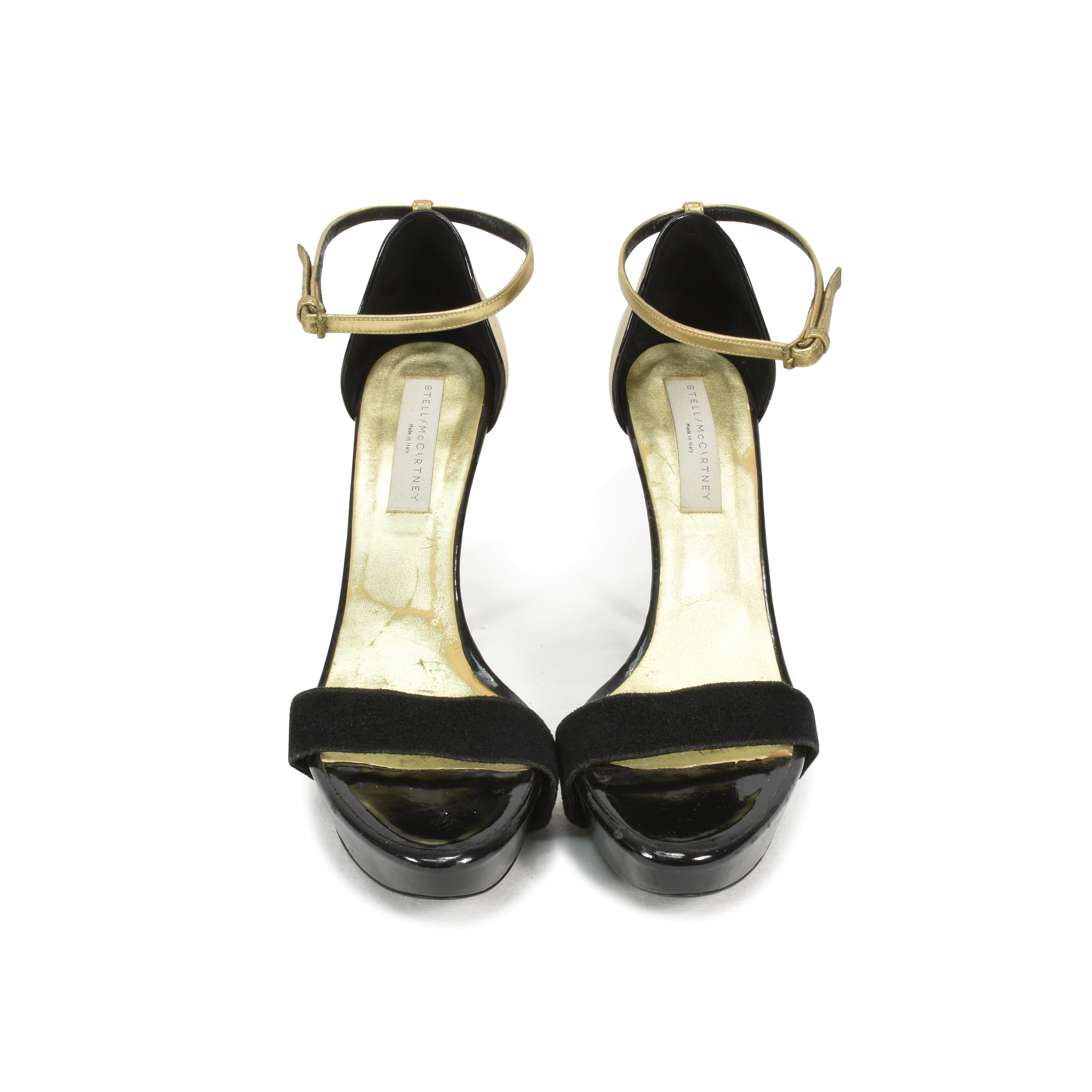 ae37abc4984f Authentic Second Hand Stella McCartney Contrasting Gold Sandals  (PSS-354-00020)