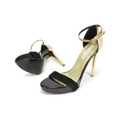 Stella mccartney contrasting gold sandals 4?1499835945