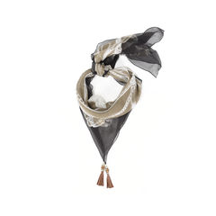 Scarf with Tassels and Bamboo
