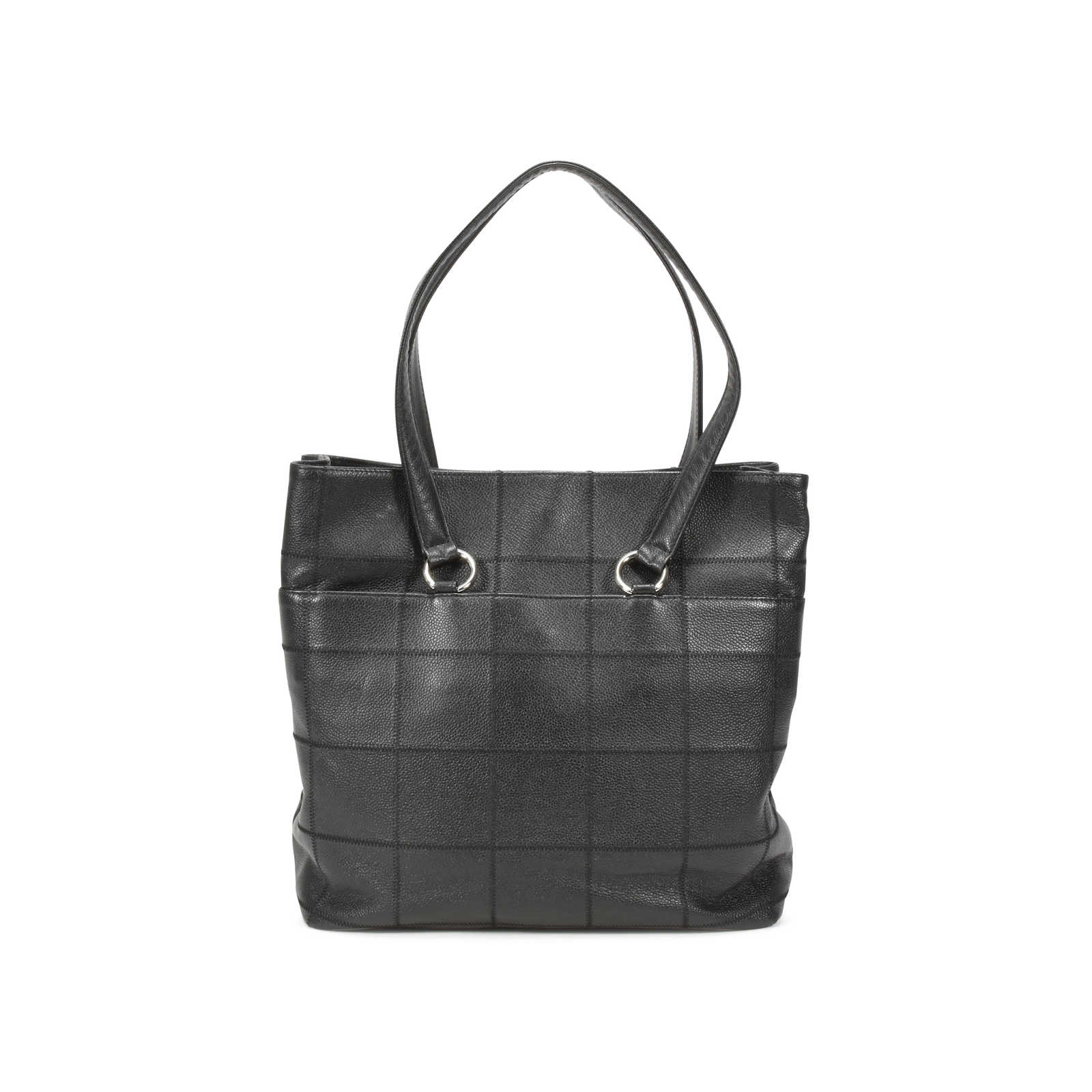 ... Authentic Pre Owned Chanel Caviar Square Quilted Tote Bag  (PSS-126-00017) ... 0b7fd594ff