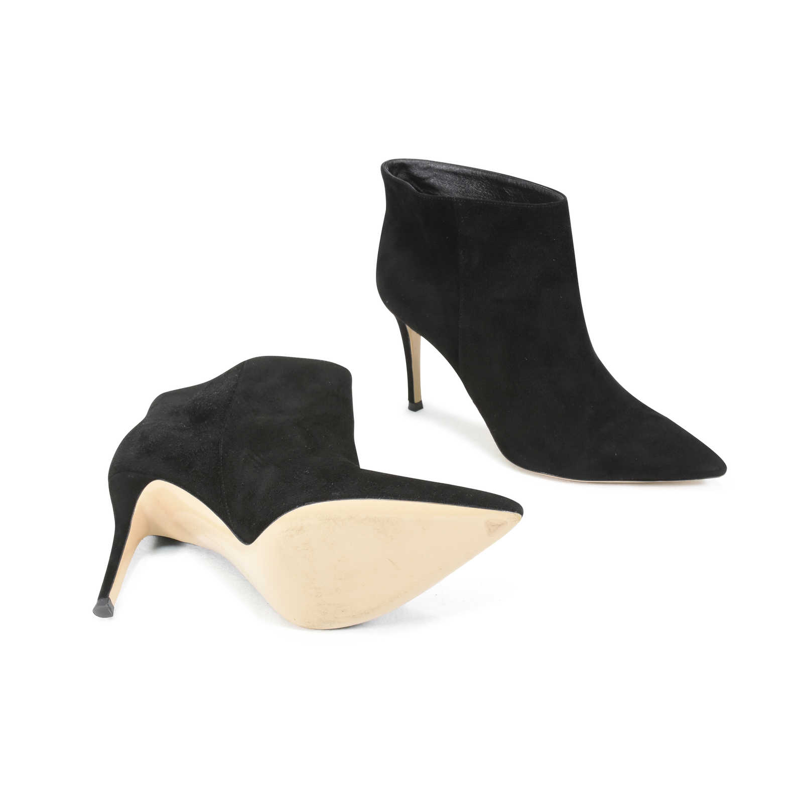4c5e05b5c ... Authentic Second Hand Gianvito Rossi Stilo Suede Ankle Boots  (PSS-126-00022) ...