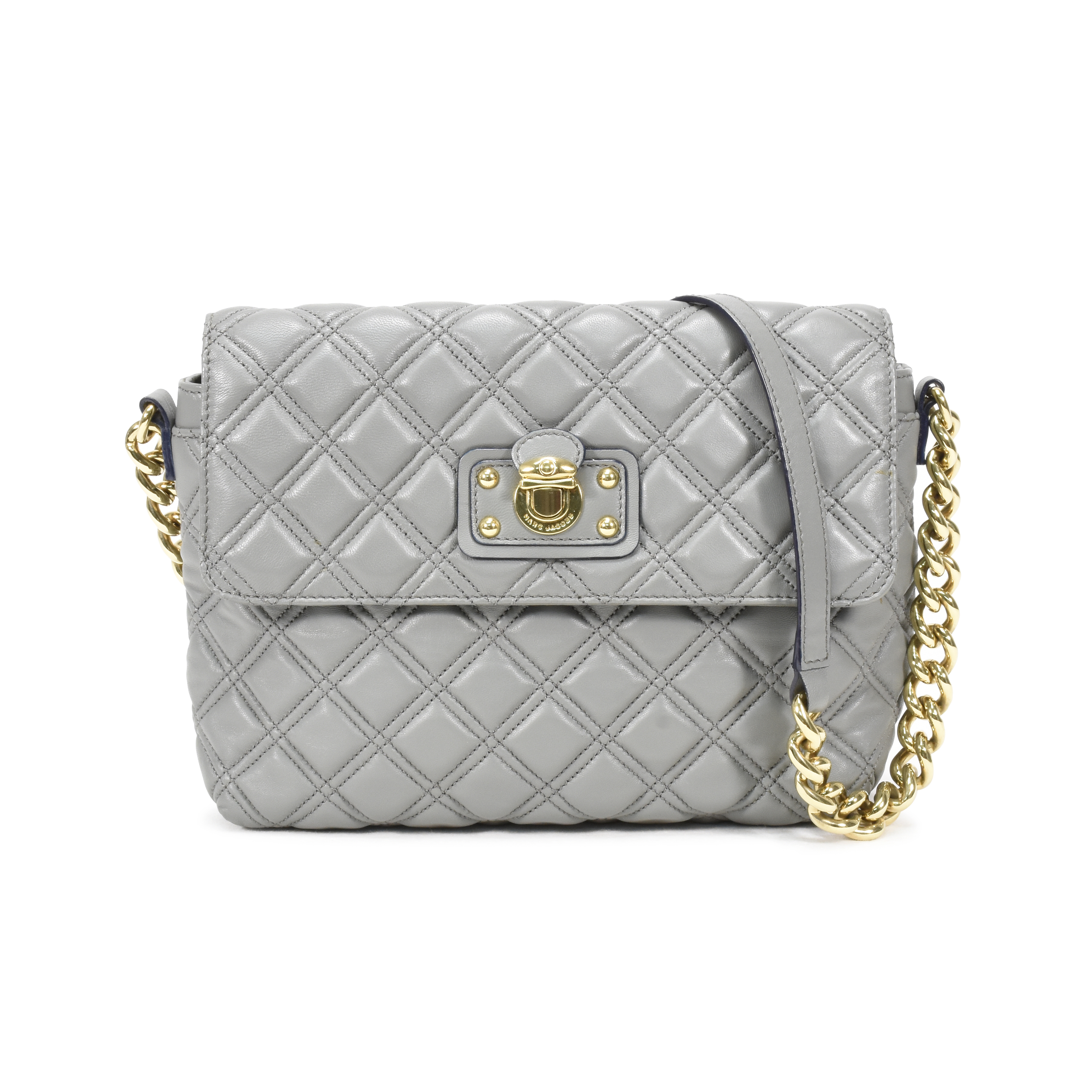 4a642990a5824 Authentic Pre Owned Marc Jacobs Skinny Single Quilted Bag Pss 364