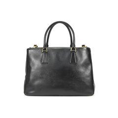 Prada saffiano lux double zip tote black 2?1500352738