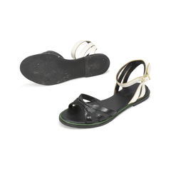 See by chloe two tone leather flat sandal 2?1500352882