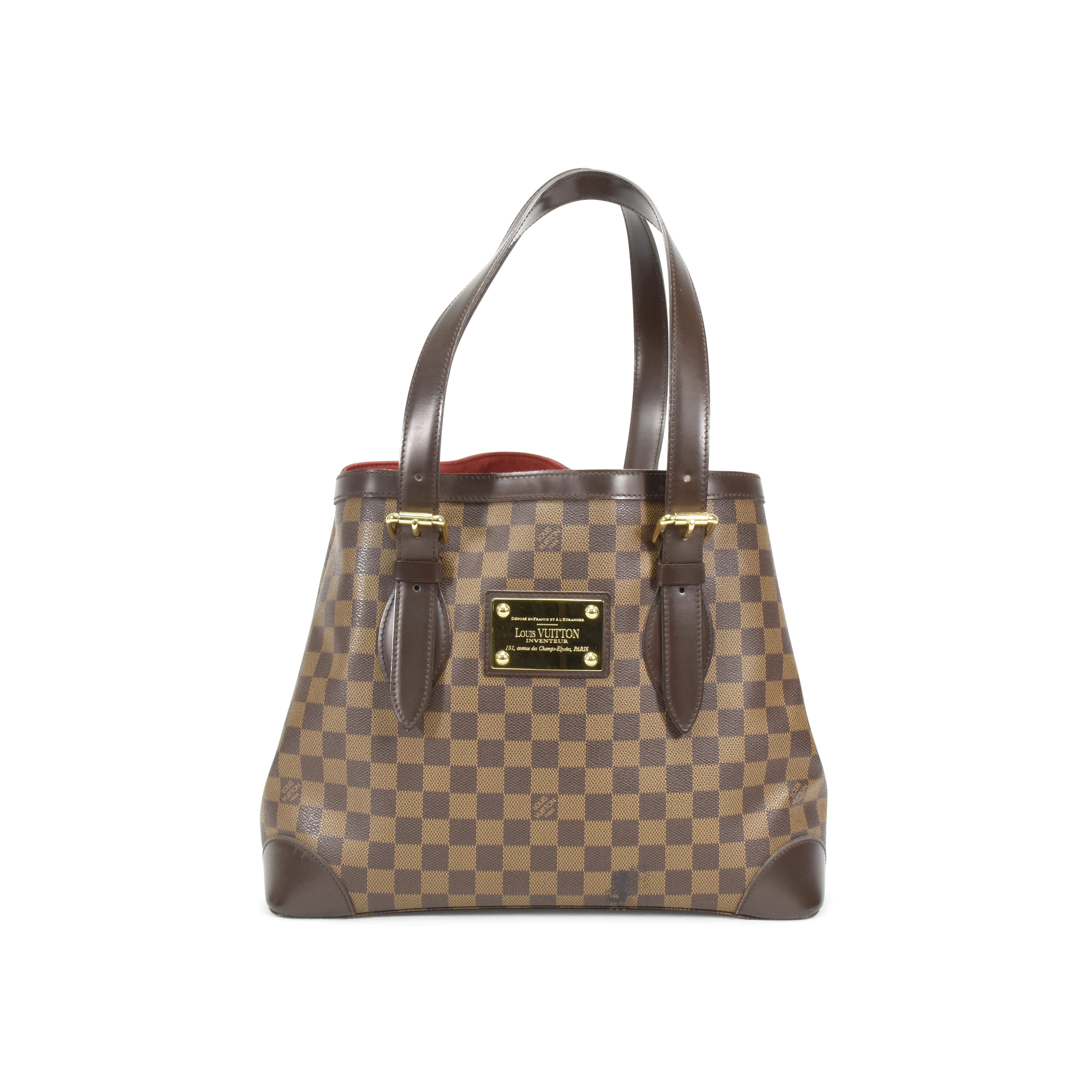 10659378eb51c Authentic Second Hand Louis Vuitton Damier Ebene Hampstead MM  (PSS-032-00002)