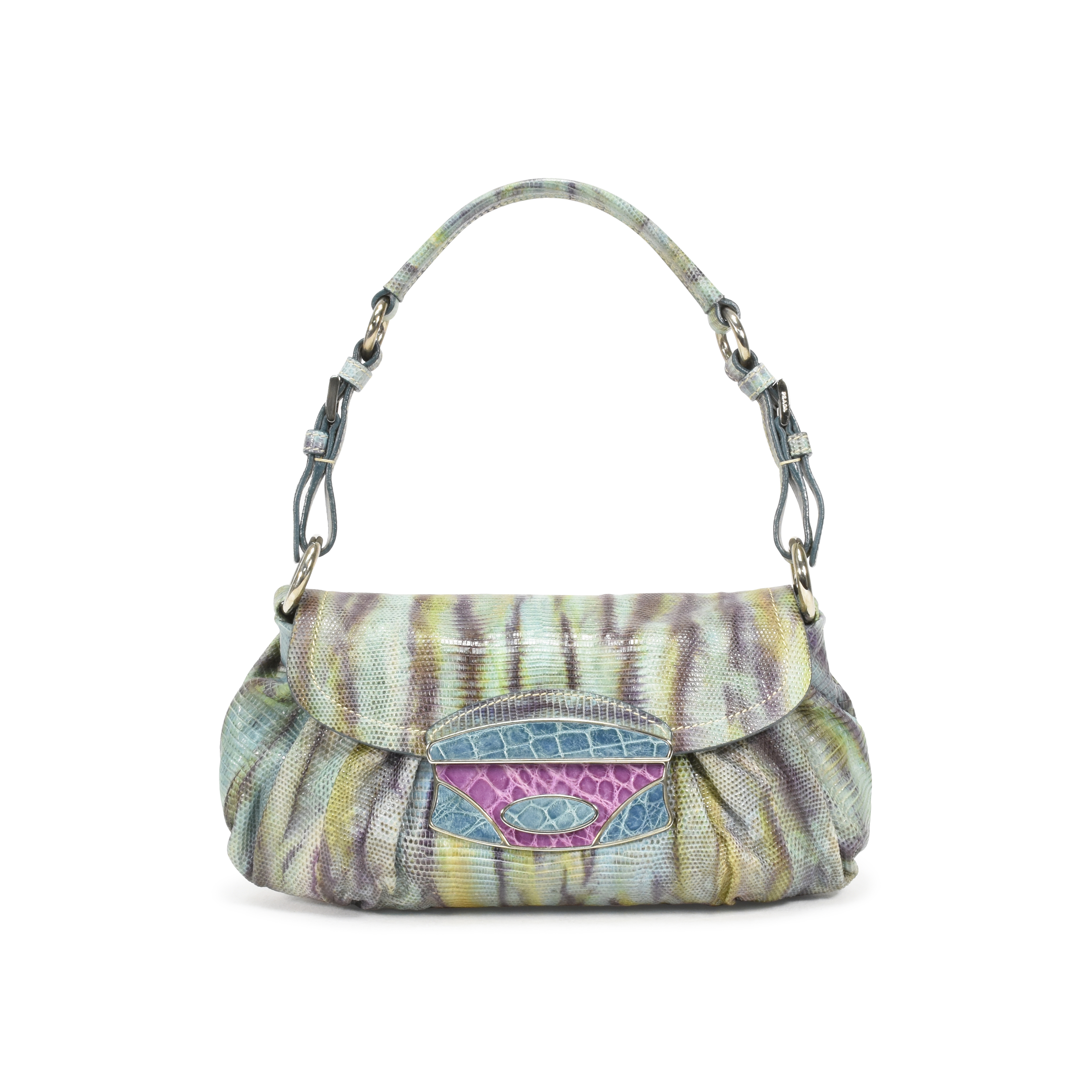 4eada388fbce ... coupon authentic pre owned prada multicolor lizard shoulder bag pss 361  00009 the fifth collection 6991d