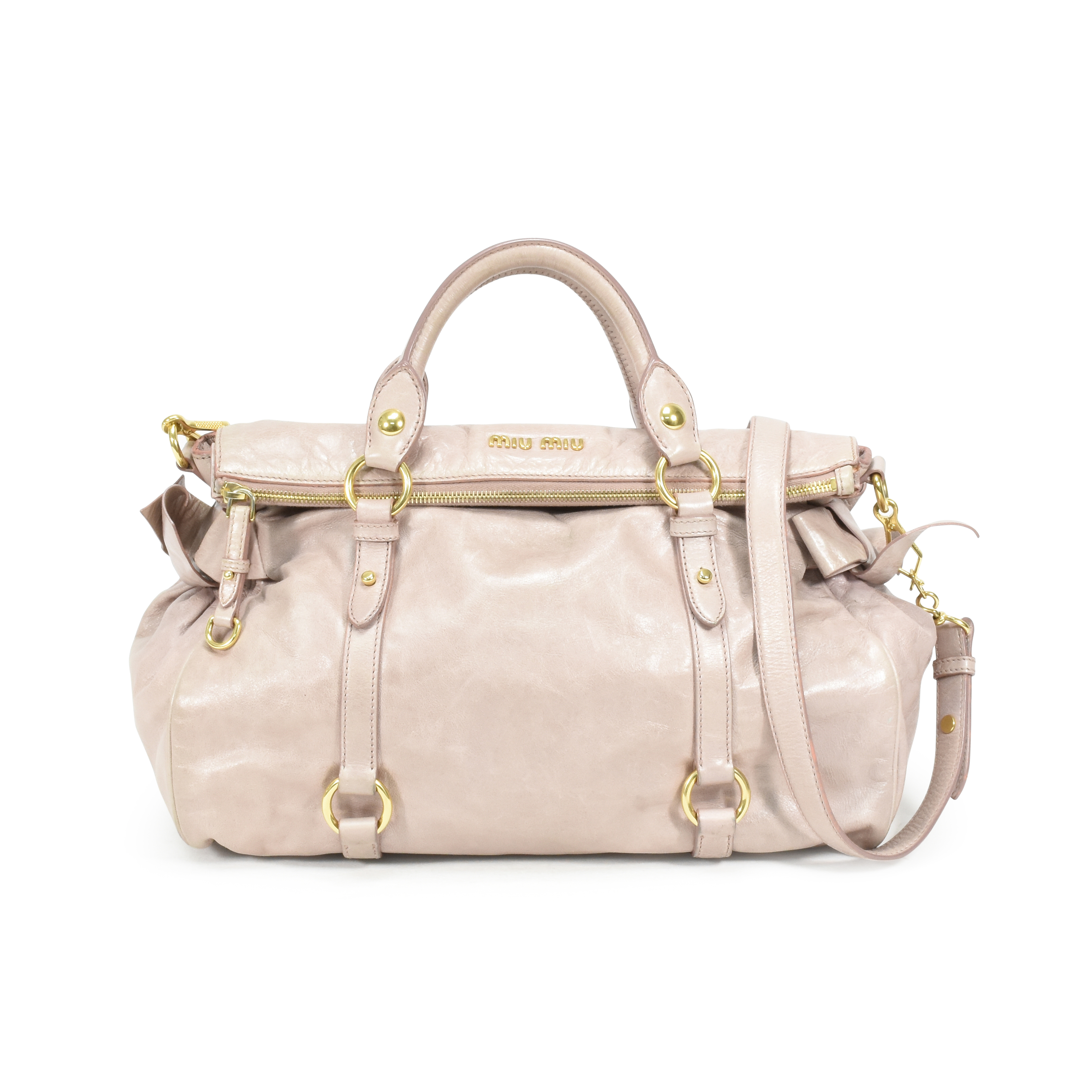 416f96775b52 Authentic Second Hand Miu Miu Vitello Lux Bow Bag (PSS-361-00022 ...