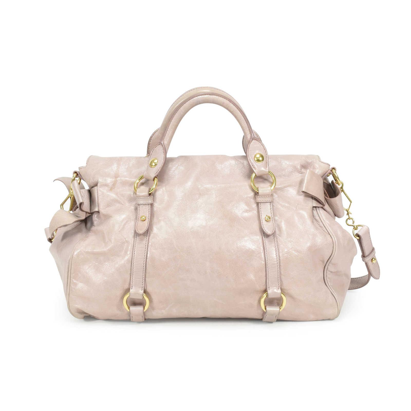 08a556d2139b8b ... Authentic Second Hand Miu Miu Vitello Lux Bow Bag (PSS-361-00022) ...