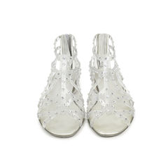 Glogladius Caged Crystal Jelly Sandals