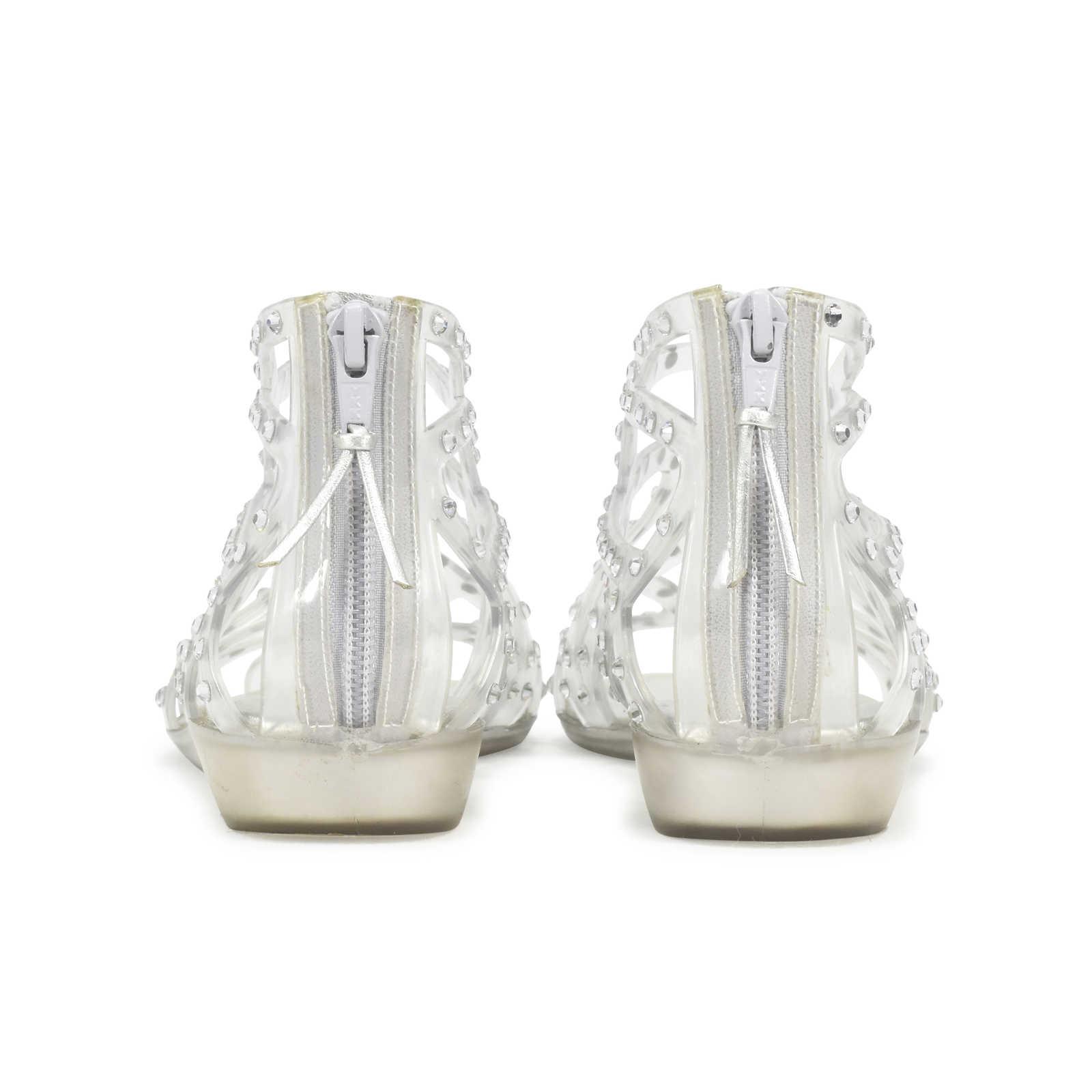 68fba71dbc7f ... Authentic Second Hand Stuart Weitzman Glogladius Caged Crystal Jelly  Sandals (PSS-361-00027 ...
