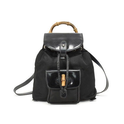 Gucci Bamboo Backpack Black