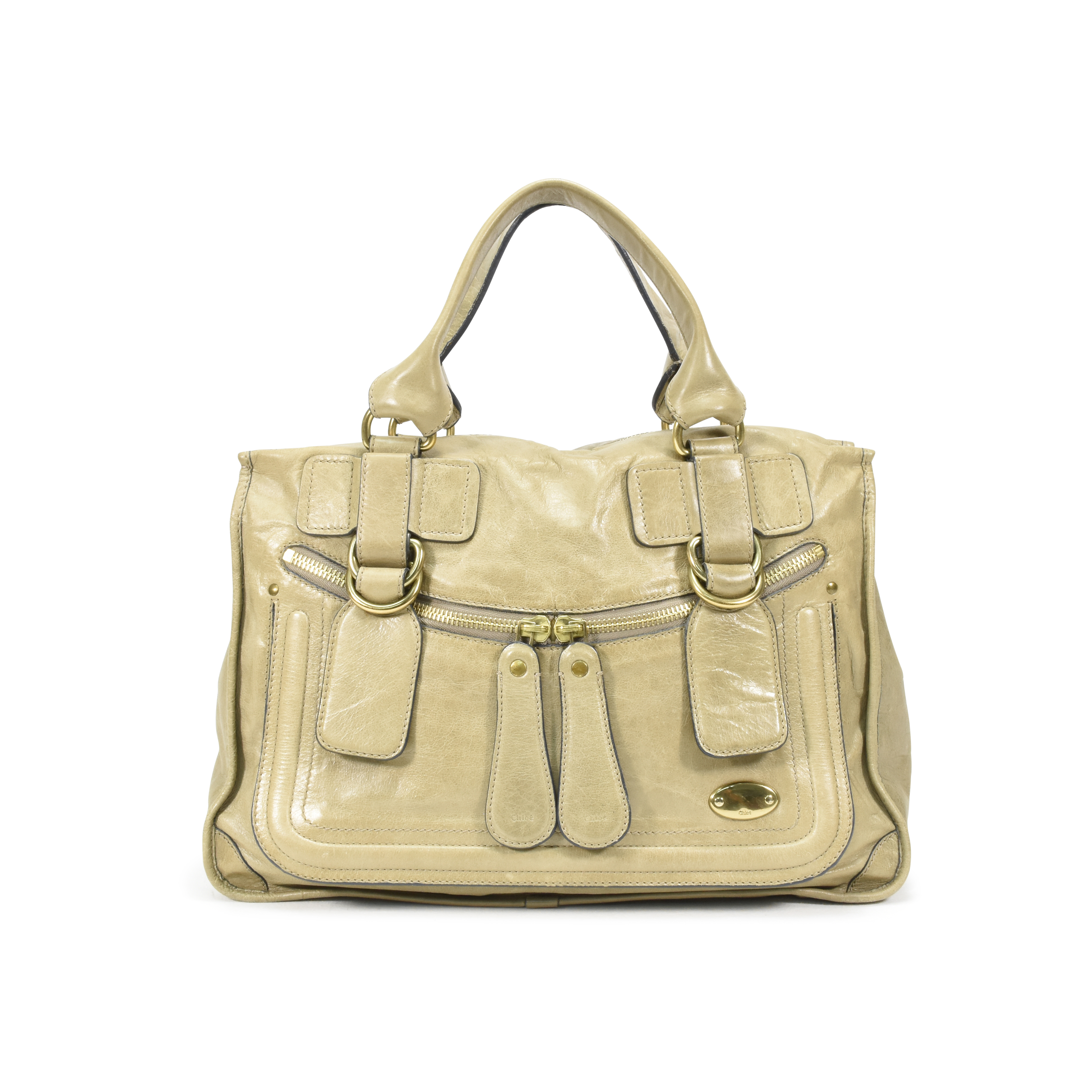 Authentic Pre Owned Chloé Bay Leather Tote (PSS-370-00024)  ec7badc934bc