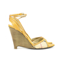 Authentic Second Hand Burberry Haymarket Braid Caledon 100 Wedge Sandal (PSS-370-00004) - Thumbnail 3