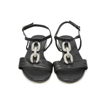 Authentic Second Hand Albano Chain Leather Sandals (PSS-375-00005)