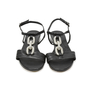 Authentic Second Hand Albano Chain Leather Sandals (PSS-375-00005) - Thumbnail 0