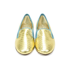 Python Metallic Loafers