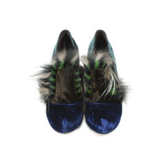 Wuthering Heights Multicolor Velvet Pumps