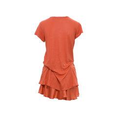 Vanessa bruno orange linen top 5?1501492681