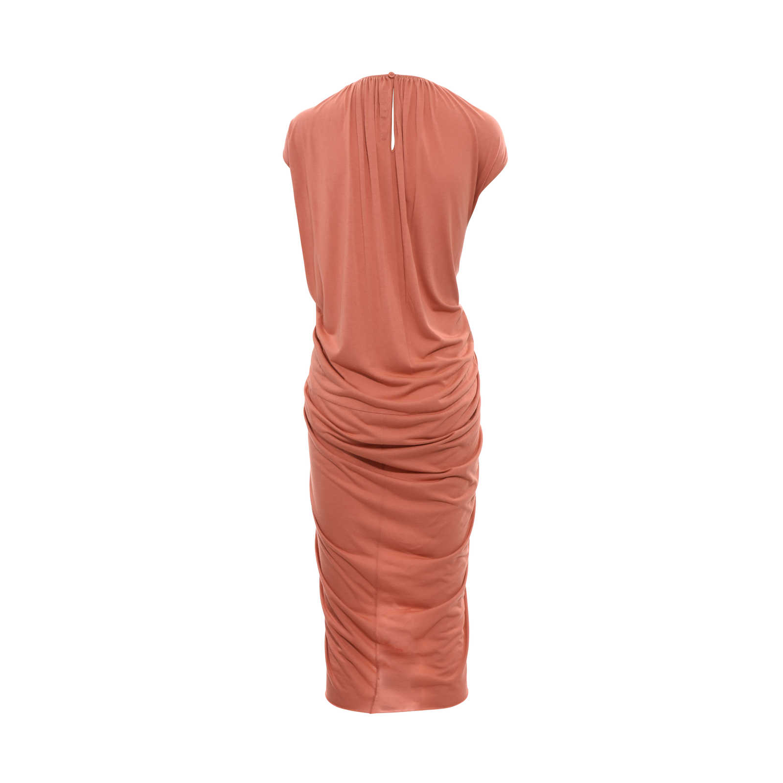 6b1b8c30d53 ... Authentic Second Hand Rick Owens Lilies Gathered Front Drape Dress  (PSS-366-00032 ...