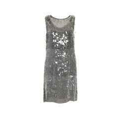 Plastic Fringe Embellishment Dress