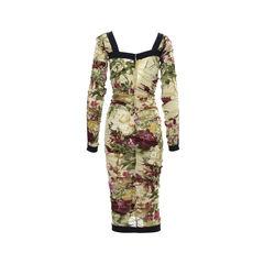Dolce gabbana floral ruched dress 2?1502101139