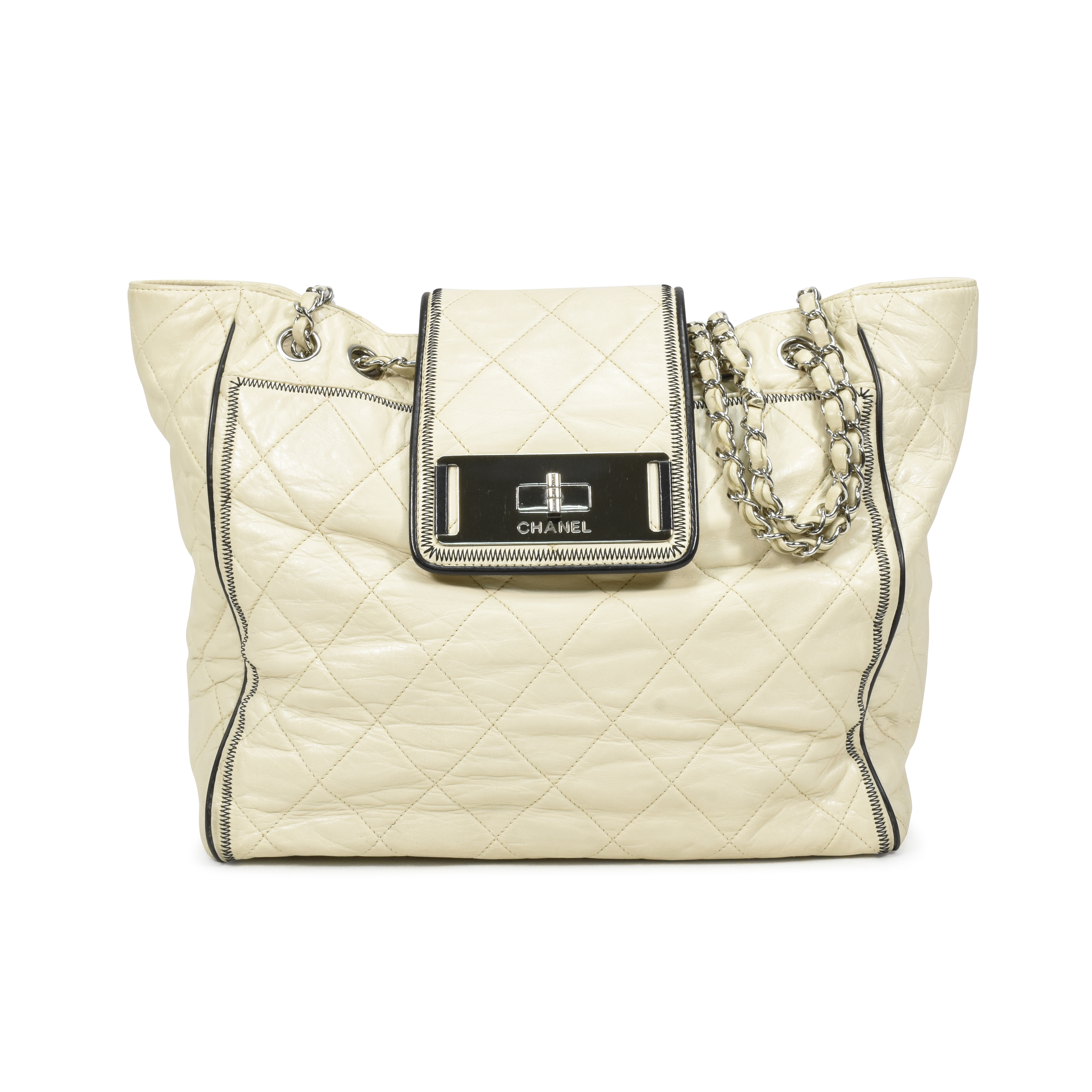 Second Hand Chanel Mademoie Lock East West Ping Tote The Fifth Collection