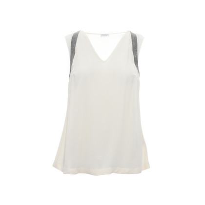 Authentic Second Hand Brunello Cucinelli Embellished Tank Top (PSS-126-00029)