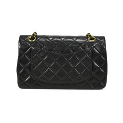 Chanel small classic double flap bag black 2?1502705919