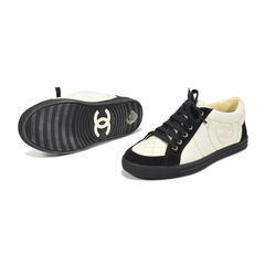 Chanel white and black sneakers 3?1502866678