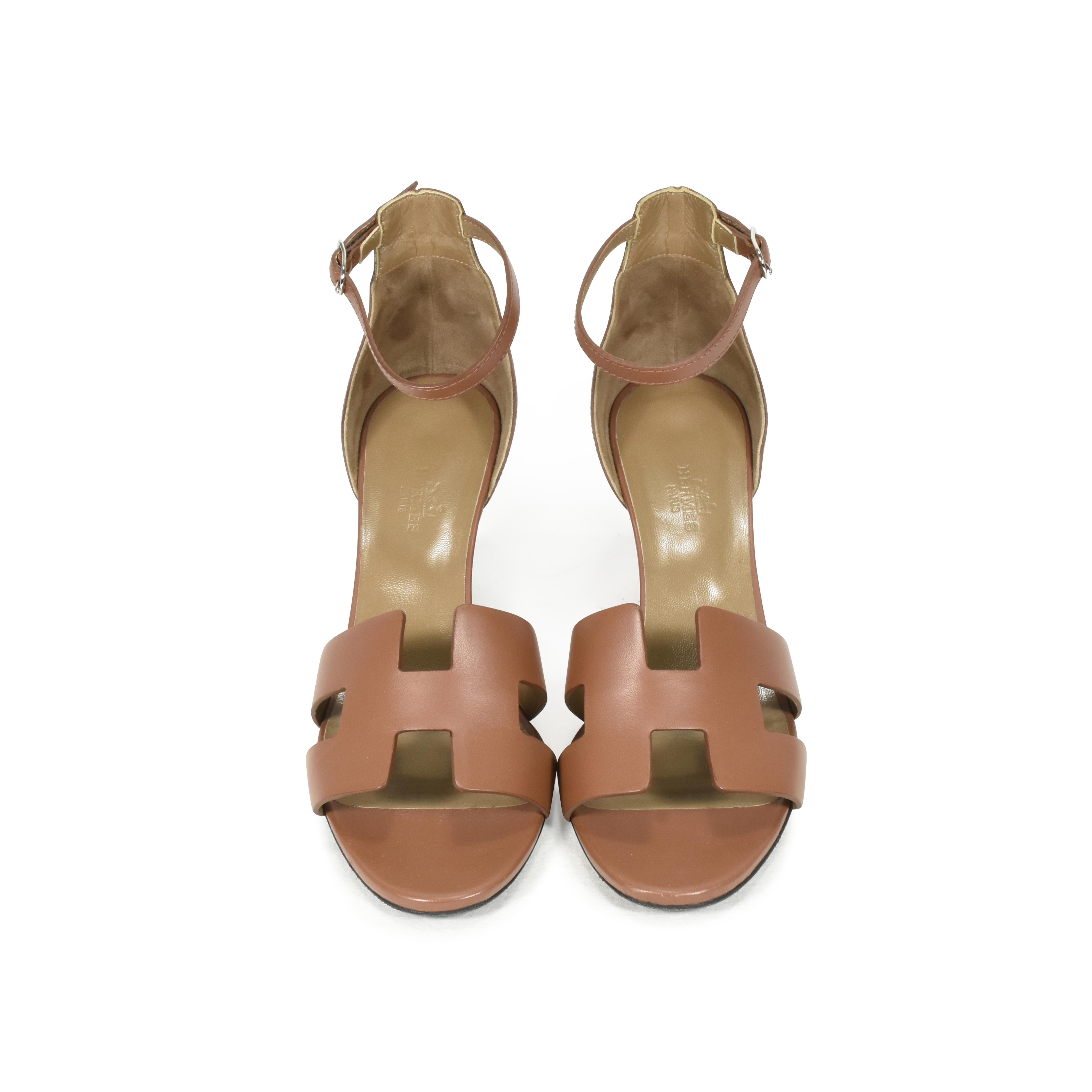 c657c076e617 Authentic Second Hand Hermès Legend Wedge Sandals (PSS-051-00179 ...