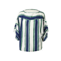 Striped Silk Top