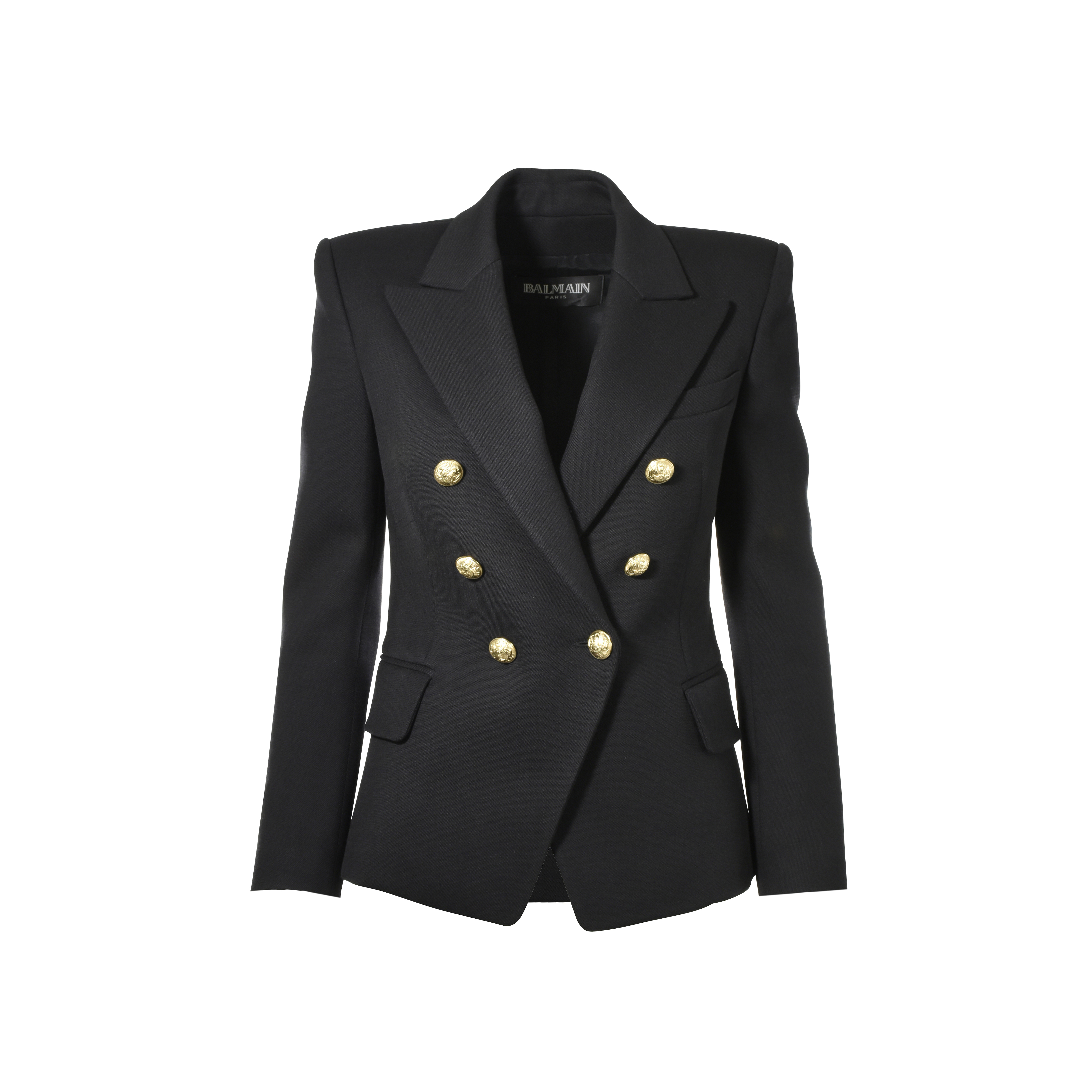 66f7d9800c1 Authentic Second Hand Balmain Double-Breasted Wool Blazer (PSS-051-00202)