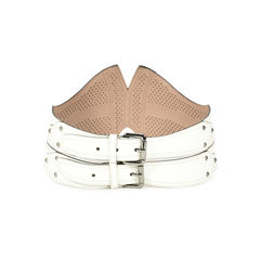 Azzedine alaia small peaked leather belt 2?1503567997